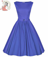 Lindy Bop Dress Medium Blue Evening 50's Audrey Hepburn Style Vintage