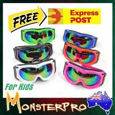 Kids Goggles Anti Fog Motocross MX ATV Quad Dirt Bike Skiing Skating Sports