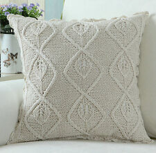Euphoria Handmade Knitting Crochet Cushion Covers Floral Vines Knitting Pillows