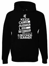 Keep Calm and Love 5 Seconds Of Summer Black Hoodie
