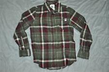 DC Shoes Boys Flannel Button Down Long Sleeve Shirt ADBWT00024 Green/Red NWT