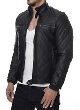 young rich 408 herren biker jacke stepp pu lederjacke. Black Bedroom Furniture Sets. Home Design Ideas