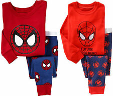 NEW SPIDERMAN Cotton Sleepwear Pajama Sets for Baby Toddler Kids Boys Size 1T~6T