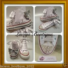 Customised Converse Wedding Shoes with Swarovski Crystals - All Sizes & Colours