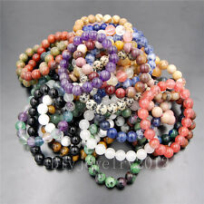 "Wholesale Handmade 6mm Natural Round Beads Stretchy Bracelet 7""/7.5""/8""/8.5"""