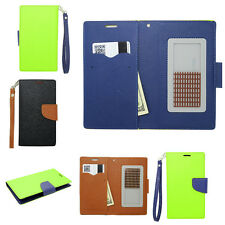 CRISIS Leather Strap ID Holder Wallet Phone Case Pouch Flip Cover for ZTE