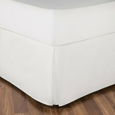 1000TC White Solid Split Corner Tailored 1-PC Bed Skirt 100%Cotton Free Ship US