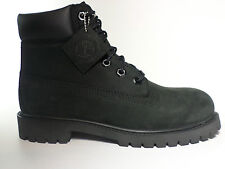 Timberland Boots Black Suede 6 Inch (Big Kids) Waterproof New In Box 12907
