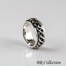 Sterling Silver Celtic Knot Spinner Band Ring for Men / Women - Irish Jewelry