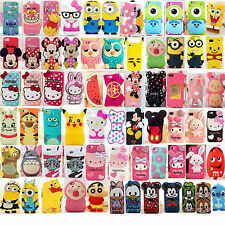 """3D Cartoon Silicone Cover Case For iPhone 4/4S 5/5S/5C 6 4.7"""" 6+ 5.5"""" Touch 4/5"""