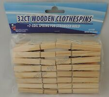 Large STURDY Wooden Clothes Pins 32-512 ct. Strong 7-Coil Spring Arts and Crafts