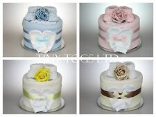 BABY BOY GIRL SINGLE 1 ONE TIER NAPPY CAKE BABY SHOWER GIFT MATERNITY LEAVE