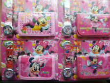 minnie mouse girls watch and wallet set great present idea first learning watch