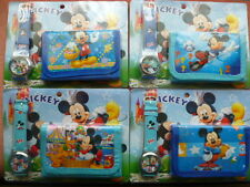 mickey mouse boys watch and wallet set great present stocking party bag filler