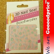 3D Nail Art Seal Beautiful Flowers Nail/Toe Stickers Pack Party&Ladies Gift 1-23