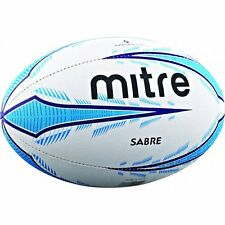 Mitre Sabre Rugby Ball Practicing 3 Ply Light Weight White/Blue