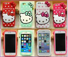 "New Cute Hello Kitty Soft Silicone Full Back Cover Case For iPhone  6 (4.7"")"