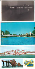 ASSORTED BRIDGES POSTCARDS DEVON MILLDALE MARLOW HUMBER FORTH BRIDGE POSTCARD