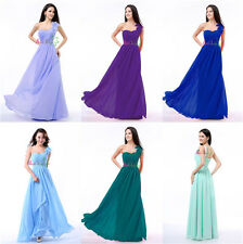 Sweetheart One Shoulder Evening Formal Party Ball Gown Prom Bridesmaid Dresses
