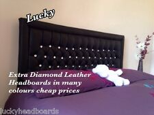 Stylish Leather extra diamond Headboard Bed Home great look cheap good price