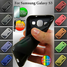 S-Line Flexible Silicone Gel TPU Case Back Cover for Samsung Galaxy S3 i9300