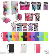 New Design Stand Wallet Flip Credit Card Case PU Leather Skin Cell Phone Cover