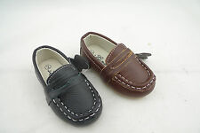 Luna Shoes Baby Boys Leather Casual Penny Loafer Slip On Infant Toddler Size 1-6