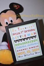 Mickey Mouse Clubhouse Personalized Birthday Party Subway Art Sign Table Decor