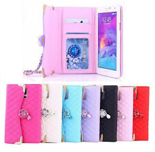 Luxury Flip Leather Card Slot Photo Frame Case Cover For Samsung Galaxy Note 4