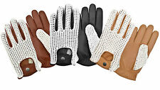 LUXURY SKIN TIGHT CASHMERE FINGER LEATHER FASHION DRIVING GLOVES CROCHET BACK