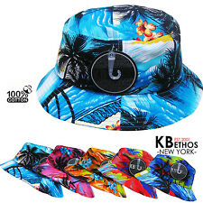 Tropical Bucket Hat Boonie Hunting Fishing Outdoor Cap Unisex 100% Cotton NEW