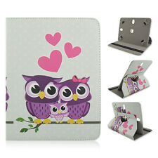 "Universal 7"" 8"" 10"" inch 360 Rotation tablet case Heart Owl family PU Leather"