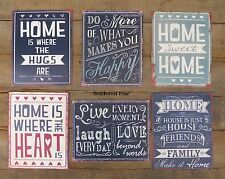 Metal Tin Signs Sentiment Wall Plaque Shabby Chic Retro In A Choice Of Designs