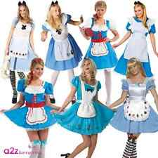 ALICE IN WONDERLAND  ADULT LADIES BOOK DAY CHARACTER FANCY DRESS COSTUME OUTFIT