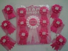 TEAM BRIDE Bachelorette Party Rosette Ribbon buttons CHOOSE YOUR QUANTITY lot