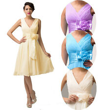 CHEAP Short Straps V Cocktail Dress Party Evening Formal Bridesmaid Prom Dresses