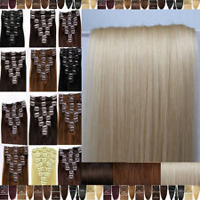 Amazing Grade AAA Clip In 100% Remy Human Hair Extensions Full Head US STOCK F90
