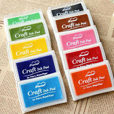 New DIY Oil Based Multi Colour Ink Pad For Rubber Stamps Paper Wood Craft Fabric