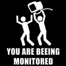 "funny "" YOU ARE BEING MONITORED "" METAL SIGN PLAQUE wall art fun for office shop"