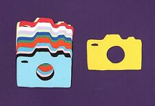 """Camera Die Cuts, Mixed Colors or You Choose Colors, 2"""" x 3"""" - Travel Die Cuts"""