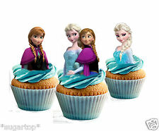 22 x Disney Frozen STAND UPS Anna Elsa Edible Decorations Cup Cake Toppers