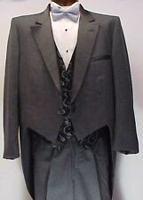 PIERRE CARDIN CHARCOAL GRAY GREY BOYS  TAIL TUXEDO JACKET OR 4PC TUX WEDDING