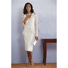 Allison Jacket Dress White NEW Ashro Midnight Velvet Size 10 14 16 18