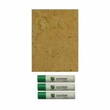 """Natural Sheet Cork, 4"""" x 6"""" Clarinet, Saxophone, Flute, with Contact Cement"""