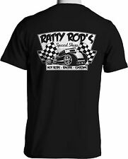 Ratty Rod Speed Shop Hot Rod T Shirts Rat Rods Checker Flag Retro S to 6XL Tall