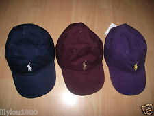 RALPH LAUREN NAVY PURPLE,BURGUNDY BASEBALL CAP NEW