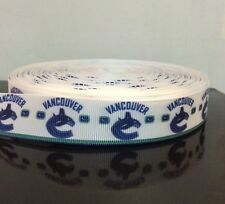 "3 Yards or 5 Yards 7/8"" Vancouver Canucks Grosgrain Ribbon"