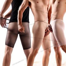 Men's Sexy Underwear Fancy Stocking Transparent Thin 5 Minutes of Pants