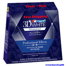 Crest3D LUXE  WHITESRIPS Professional Effects Teeth Whitening Free Shipping *USA