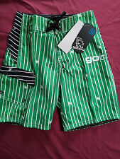 BOYS GREEN BOARD/SWIMMING SHORTS BY GOTCHA 8 10 & 14 YEARS AVAILABLE BNWT